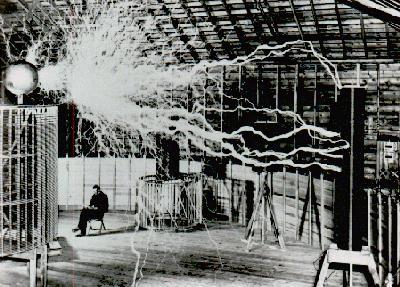 Tesla at his Colorado Springs Laboratory