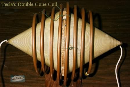 Double Cone Bipolar Tesla Secondary Coil