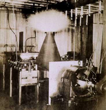 Tesla's Lab before it burned.